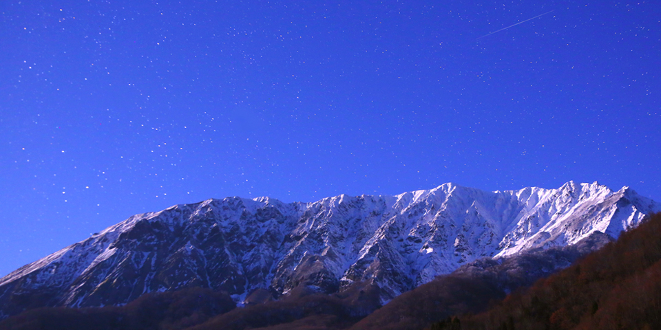 Winter has come to Mt. Daisen.