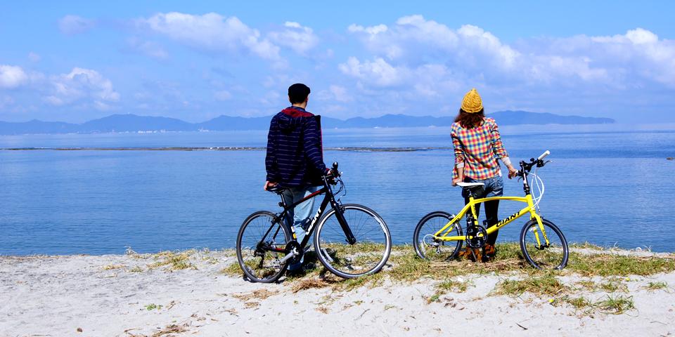 皆生温泉ポタリング〜皆生温泉をガイドと一緒に自転車でのんびり走るツアーです〜